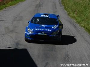 Frédéric Comte sur la 307 WRC au rallye du Mont-Blanc