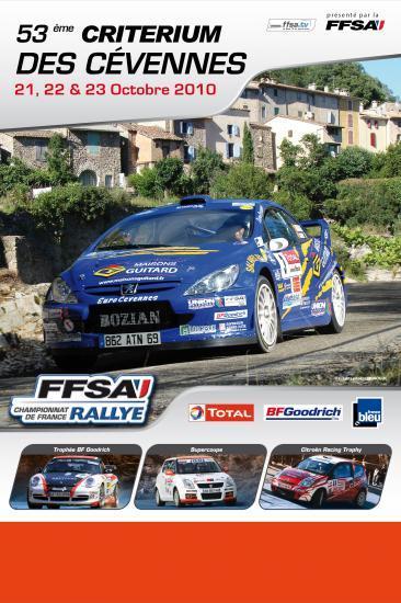 Affiche du rallye des Cévennes 2010