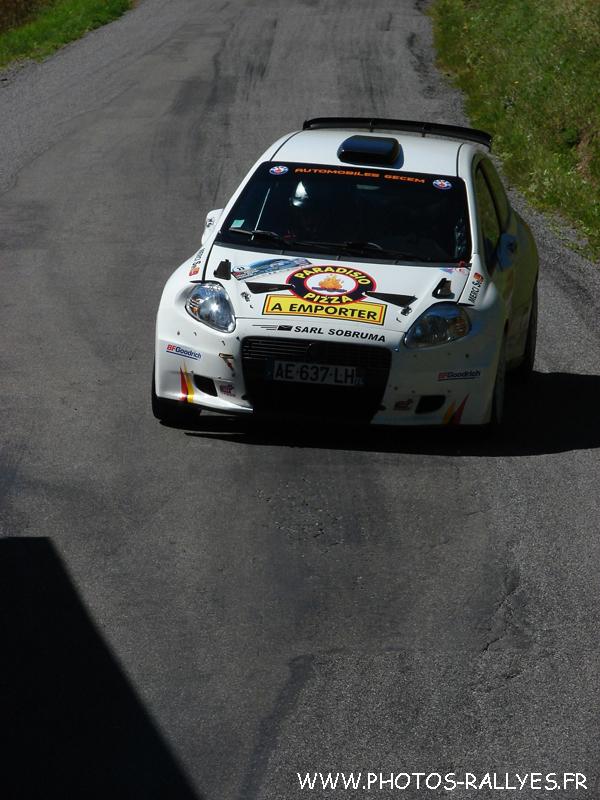 Sébastien Dommerdich sur la Punto S2000 au rallye du Mont-Blanc