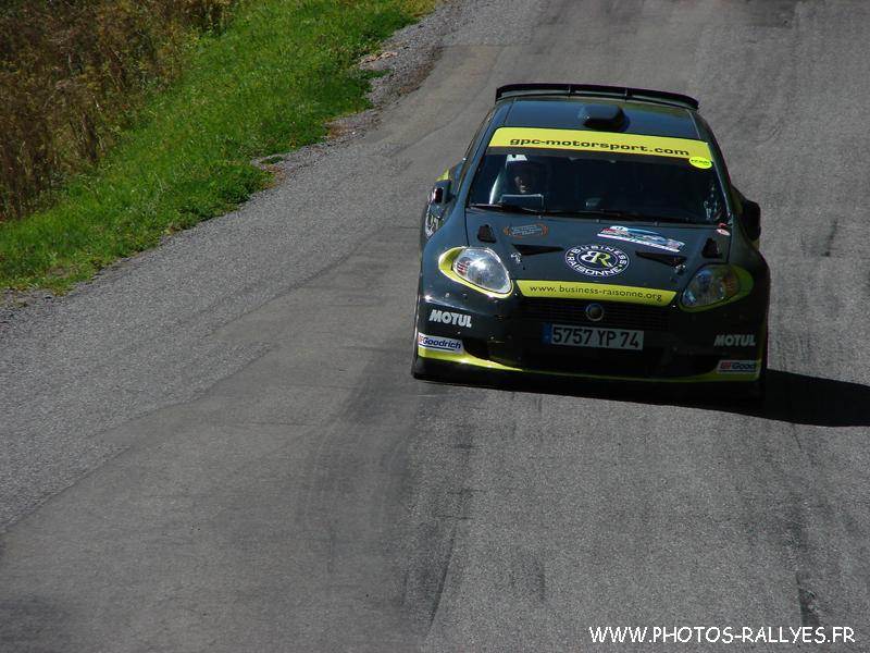 Clément Dub sur la Punto S2000 au rallye du Mont-Blanc