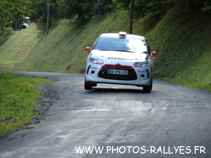 Kris Meeke sur la DS3 R3 au rallye du Mont-Blanc 2010