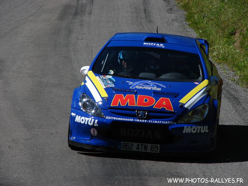 Dany Snobeck sur la 307 WRC au Mont-Blanc