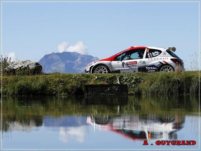 Bryan Bouffier au rallye du Mont-Blanc 2010