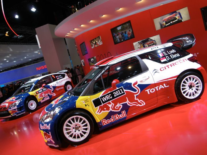 DS3 WRC et la C4 WRC au salon de l'auto 2010 à Paris