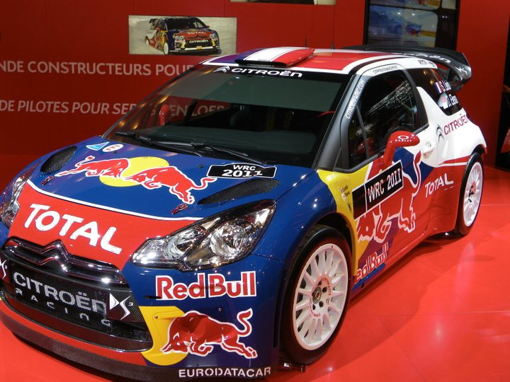 DS3 WRC au salon de l'auto à Paris