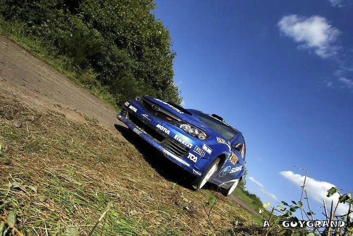 Toshi Arai au rallye de France