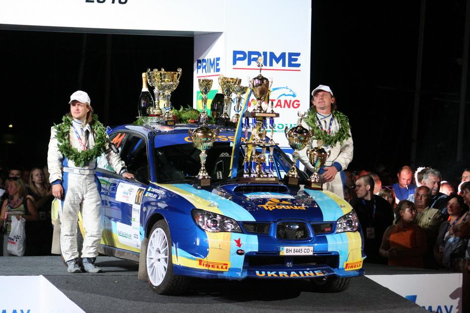 Equipage vainqueur du rallye Prime Yalta 2010