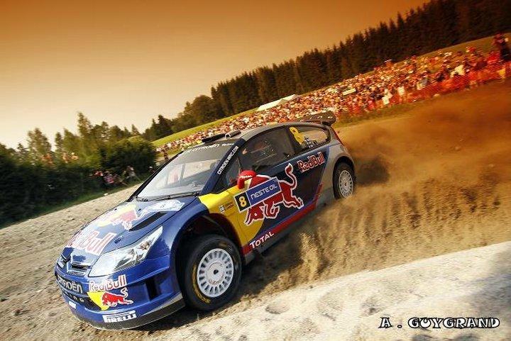 Kimi Raïkkonen au rallye de Finlande 2010