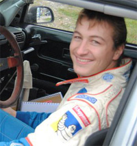 Julien Saunier pilote de rallye