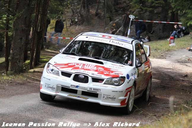 Florian Gonon au rallye du Valais 2010