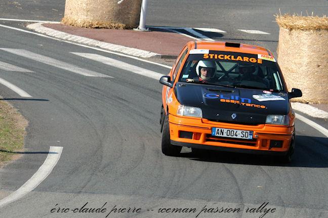 Julien Saunier au rallye Lyon-Charbonnières 2011