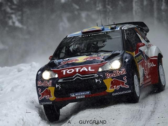 Sébastien Loeb au rallye de Suède 2011