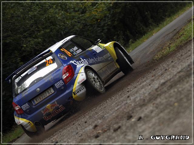 Patrick Sandell au rallye de France 2010