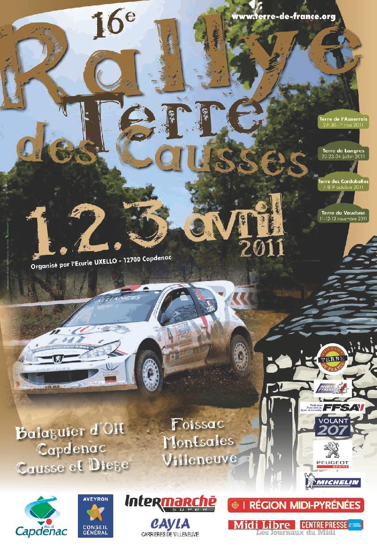 affiche du rallye terre des causses 2011