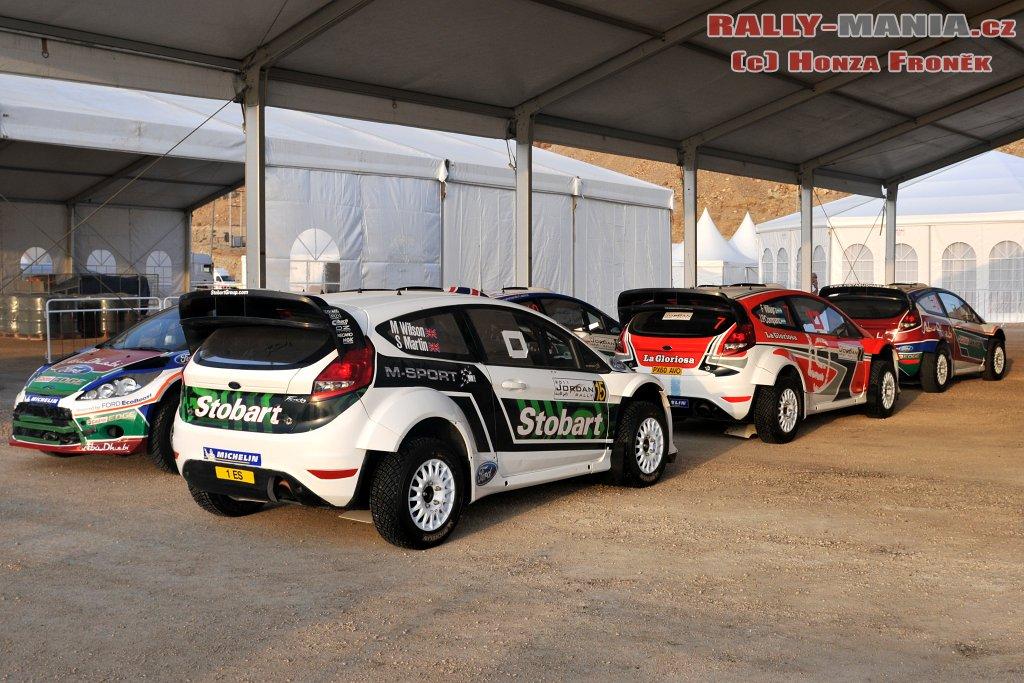 Les Ford au rallye de Jordanie 2011