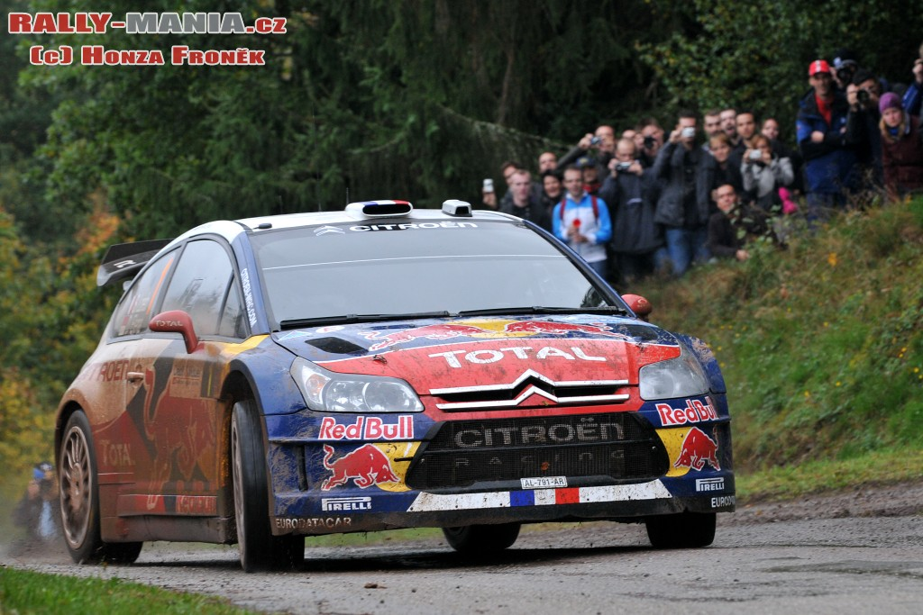 Sébastien Loeb au rallye de France 2010