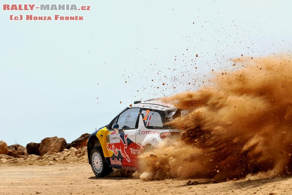 Sébastien Ogier au rallye de Jordanie