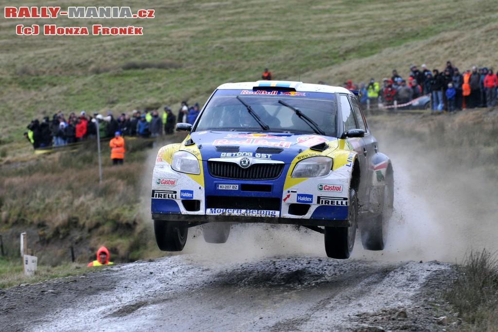 Patrick Sandell au rallye de Grande-Bretagne 2011
