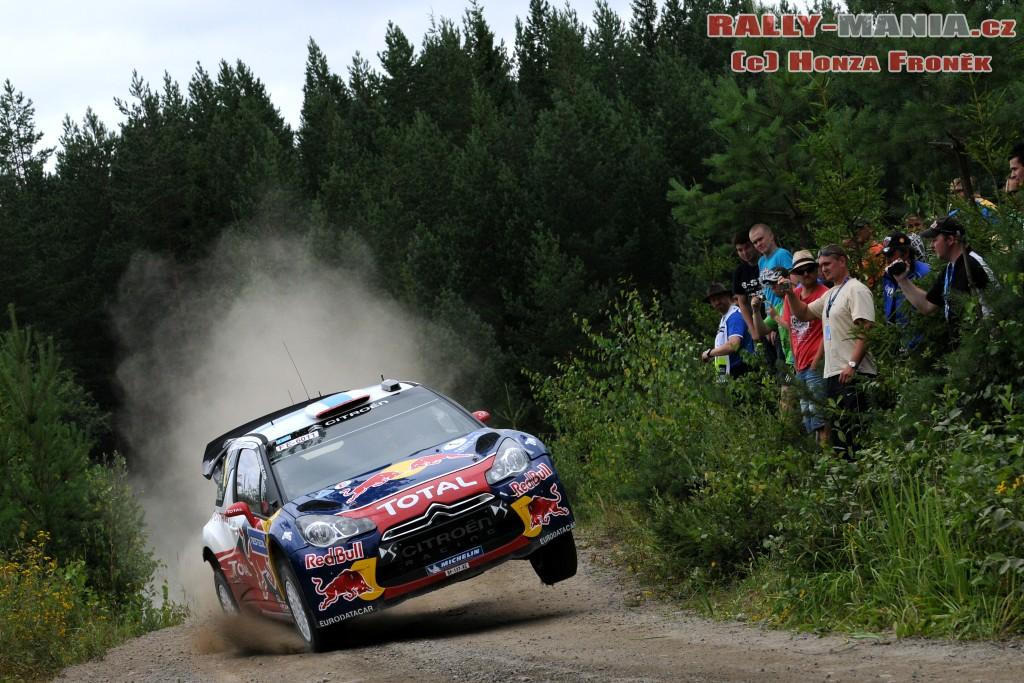 Sébastien Loeb au rallye de Finlande 2011