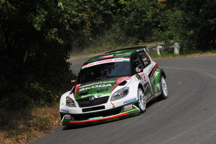 Jan kopecky au rallye de Hongrie 2011