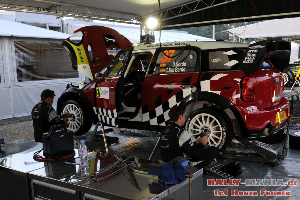 Mini JCW WRC de Dani Sordo au rallye de France 2011