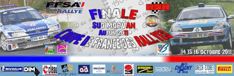 Affiche de la finale de la coupe de France des rallyes 2011
