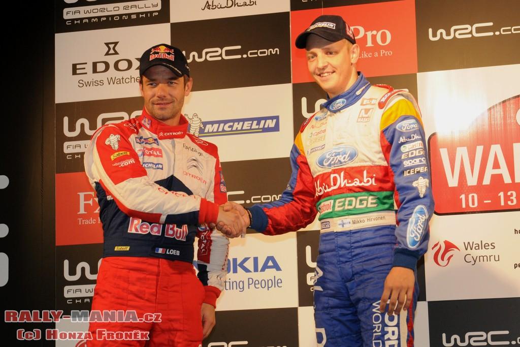 Sébastien Loeb et Mikko Hirvonen au rallye de Grande-Bretagne 2011