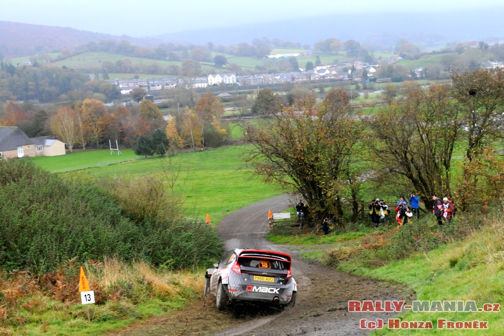 Ott Tanak au rallye de Grande-Bretagne 2011