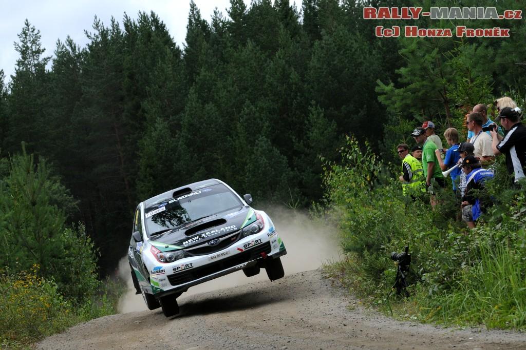 Haydden Paddon au rallye de Finlande 2011