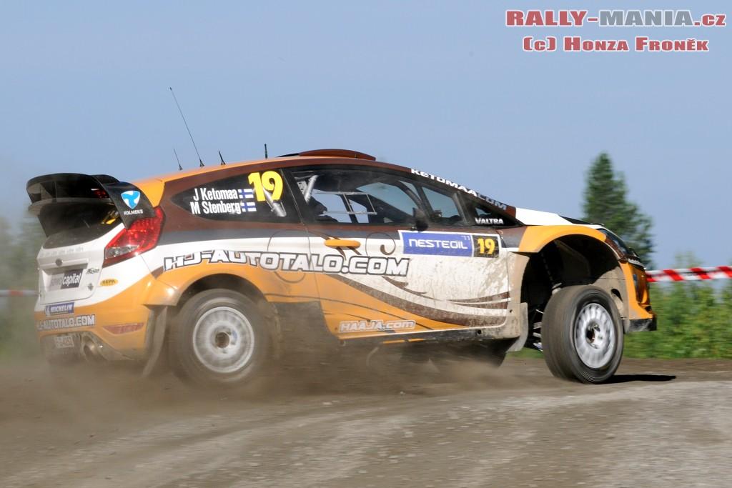 Jari Ketomaa au rallye de Finlande 2011