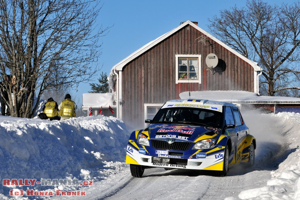 Patrick Sandell au rallye de Suède 2011