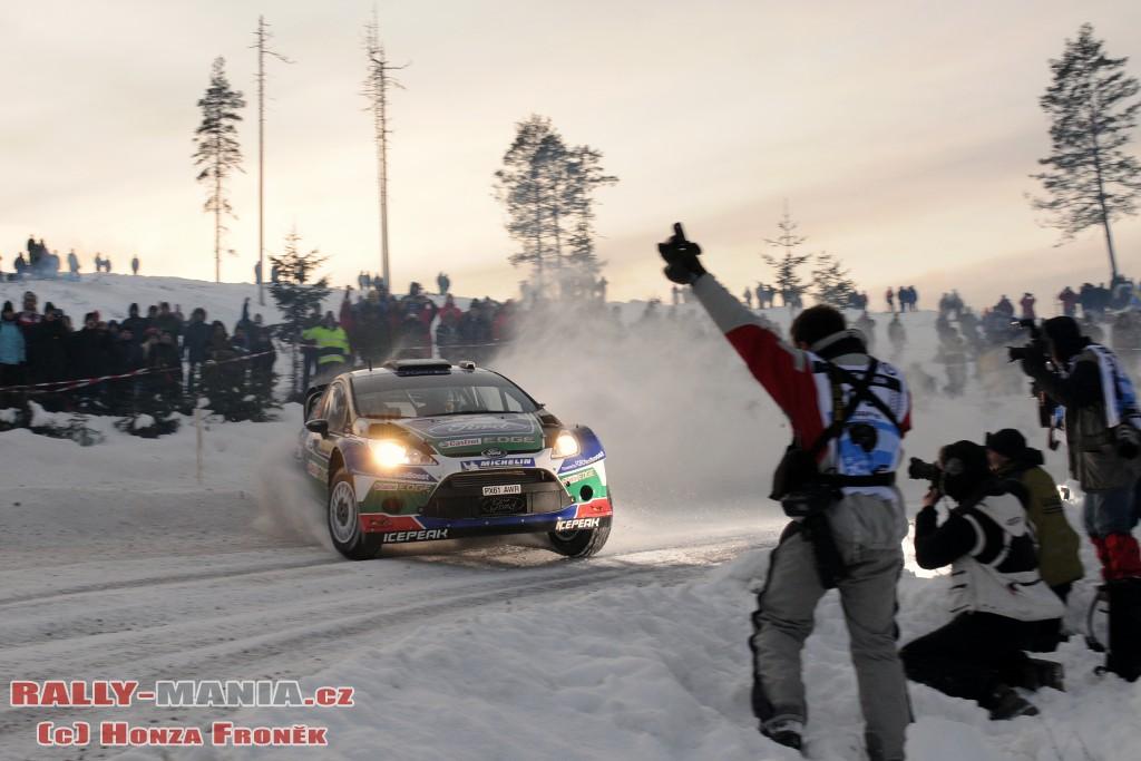 Jari-Matti Latvala lors du rallye de Suède 2012