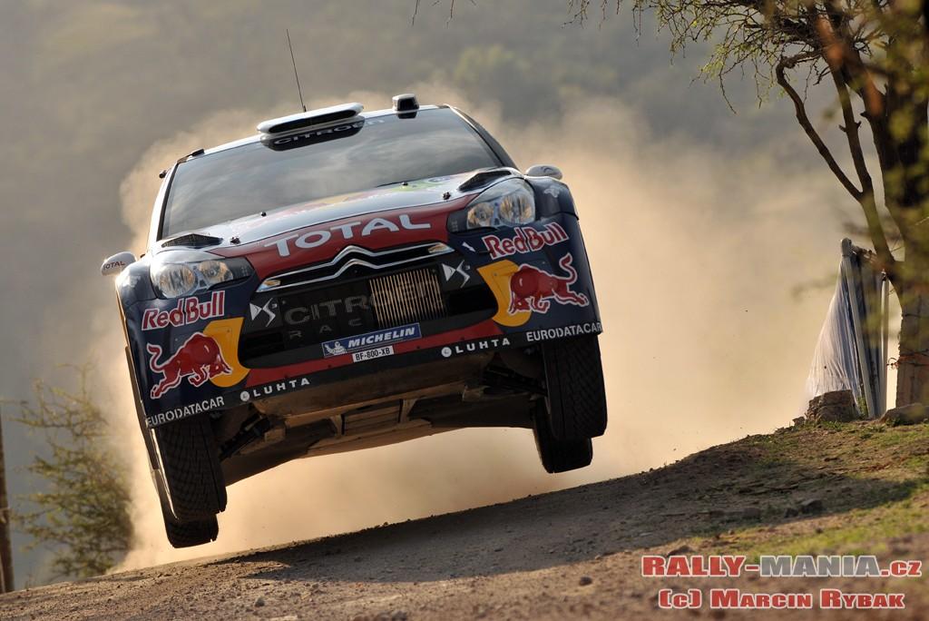 Sébastien Loeb lors du rallye du Mexique