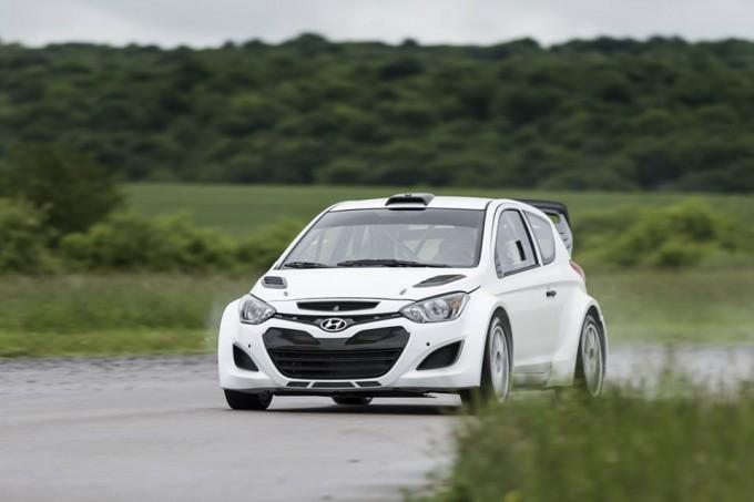 Hyundai I20 WRC en essais en Allemagne